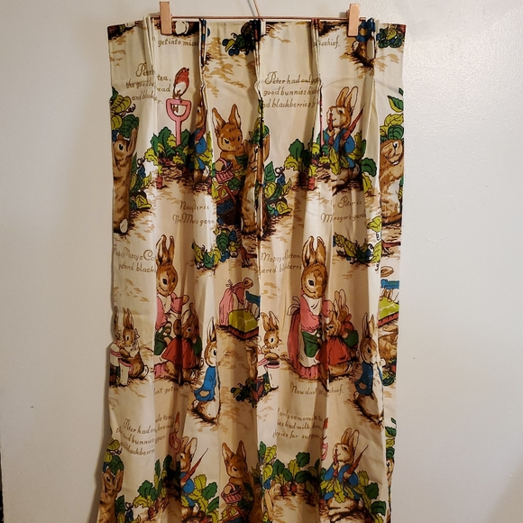 Vintage | Pinch Pleat 70s Curtains